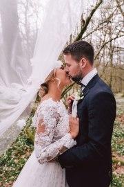 Brudpar brudslöja