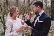 Brudpar Bröllopstårta